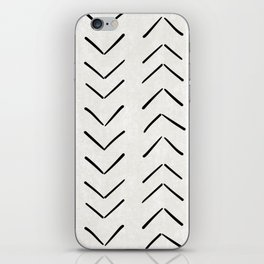 Mud Cloth Big Arrows in Cream iPhone Skin