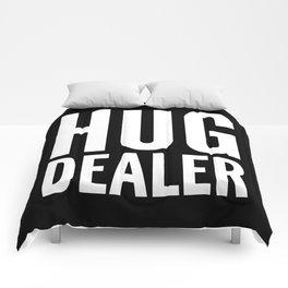 HUG DEALER (Black & White) Comforters