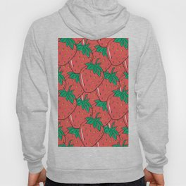 BRIGHT AND COLORFUL STRAWBERRY POP ART PATTERN Hoody
