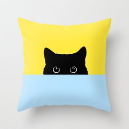 Kitty Throw Pillow