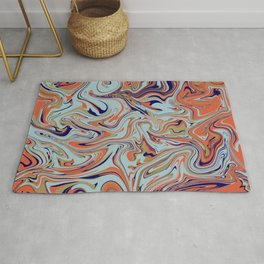 Abstract liquified art Rug