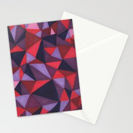Triangles: Reds and Violets Stationery Cards