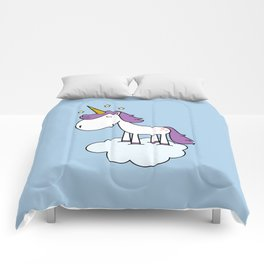 Adorable unicorn Comforters