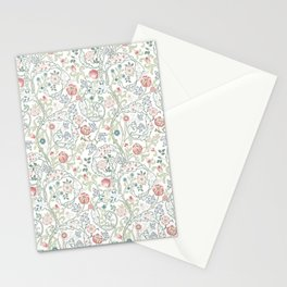 William Morris Pastel Floral Vine Pattern Stationery Cards