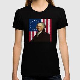 John Adams and The American Flag T-shirt