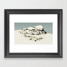 Landscape with snow Framed Art Print