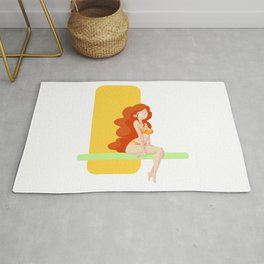 Cute red head pin-up / Mignonne pin-up rousse Rug