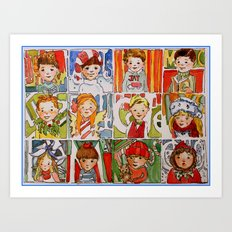 The Twelve Kids of Christmas Art Print