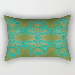 Turquoise lace Rectangular Pillow
