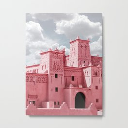 A8 - Red Traditional Buildings, Marrakesh, Morocco Metal Print