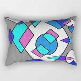 Grey blue and white Rectangular Pillow