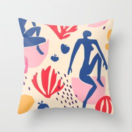 red blue yellow Throw Pillow