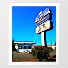 Best Burgers Drive-In Art Print