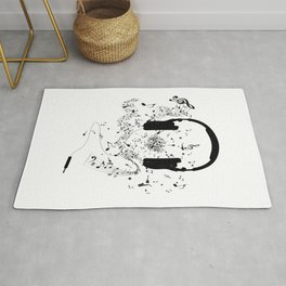 Headphones and Music Notes Rug