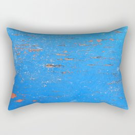 Blue Weathered Painted Wood Board Rectangular Pillow