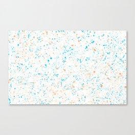 Splatter - Orange Blue Colorway Canvas Print