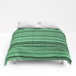 Stripes small only green Comforters