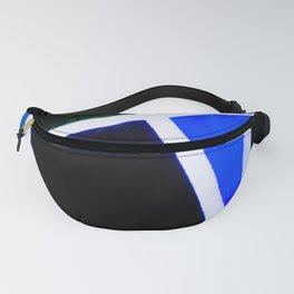 Blue and black broken glass pattern Fanny Pack