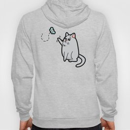 Fat Cat Trying to Get Butterfly Hoody