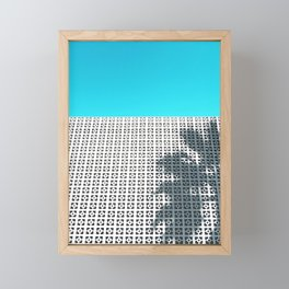 Parker Palm Springs with Palm Tree Shadow Framed Mini Art Print
