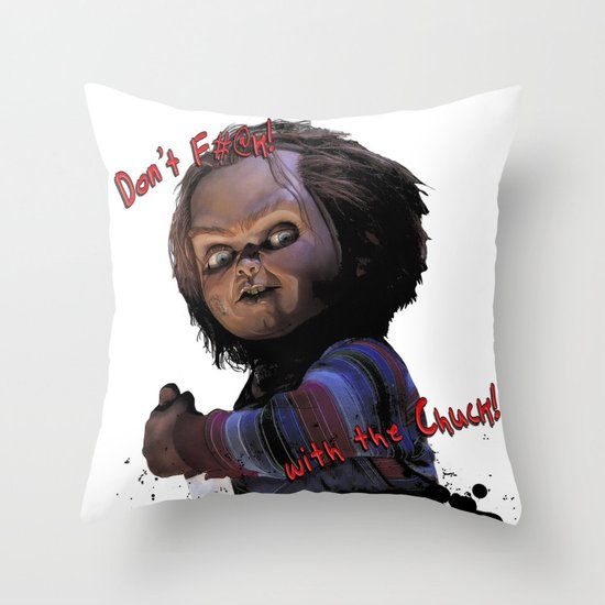 Charles Lee Ray: Monster Madness Series 3 Throw Pillow