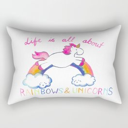 Rainbow Unicorn Rectangular Pillow