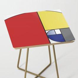 Mondrian vs Fibonacci Side Table