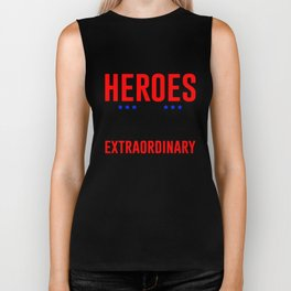 Super Heroes Superheroes Extraordinary Powers Biker Tank