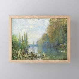 The Banks of The Seine in Autumn by Claude Monet Framed Mini Art Print