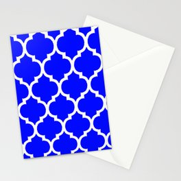 MOROCCAN COBALT BLUE AND WHITE PATTERN Stationery Cards