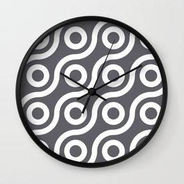 Fisheye Grey & White Wall Clock