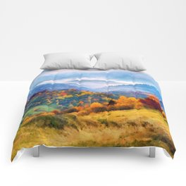 Autumn in the mountains Comforters