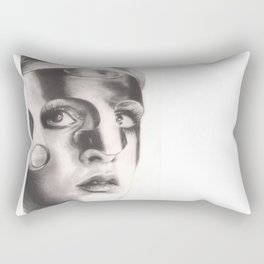 twiggy in mask... Rectangular Pillow