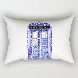 Doctor Who TARDIS Words of Wisdom Rectangular Pillow
