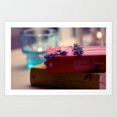 Rain, Hesse and Lavender Art Print