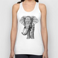 grand theft auto Tank Tops featuring Ornate Elephant by BIOWORKZ