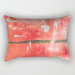 Etched Scratchings of a Mad Red Monk Rectangular Pillow