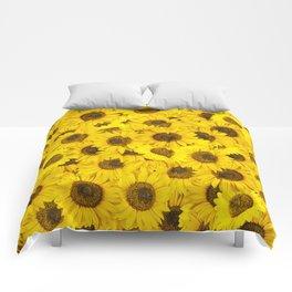 Lots of sunflowers Comforters