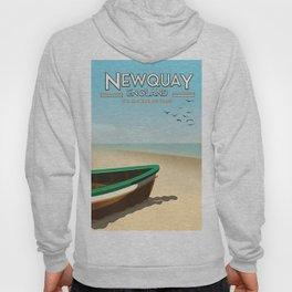 Newquay England beach poster. Hoody