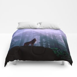 Wolf in the Woods Comforters