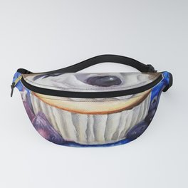 Celebration In Blue Cupcake Painting Fanny Pack