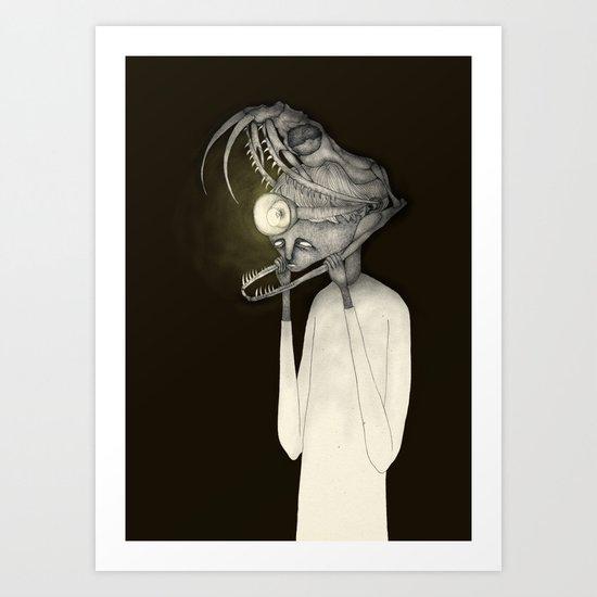 Like a snake Art Print
