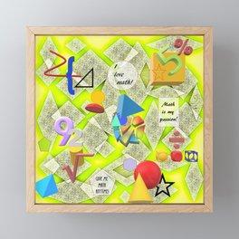 I Love Math Framed Mini Art Print