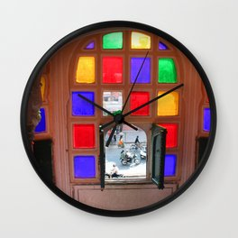 A Room With a View Wall Clock