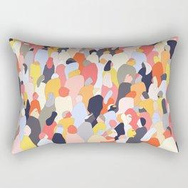 Crowded Rectangular Pillow