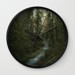 Oregon Forest V Wall Clock