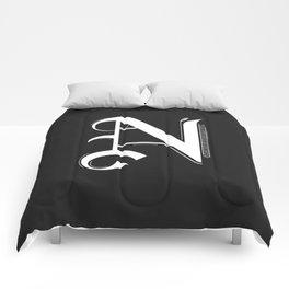 Letter N Comforters