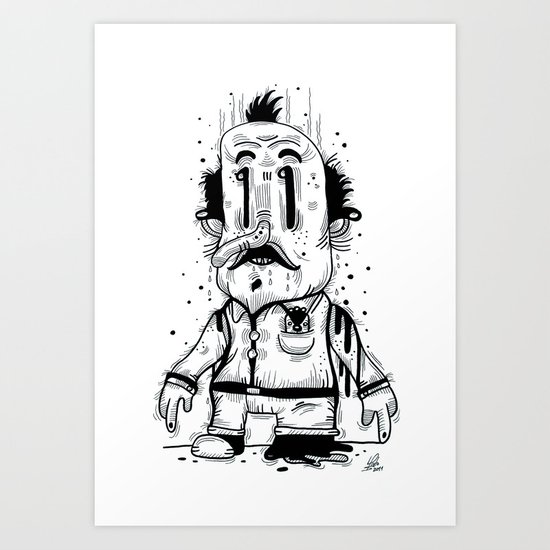 Stinky Man Art Print