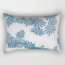 Blue torquise Rectangular Pillow