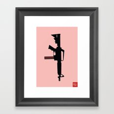 Art not War - Pink Framed Art Print